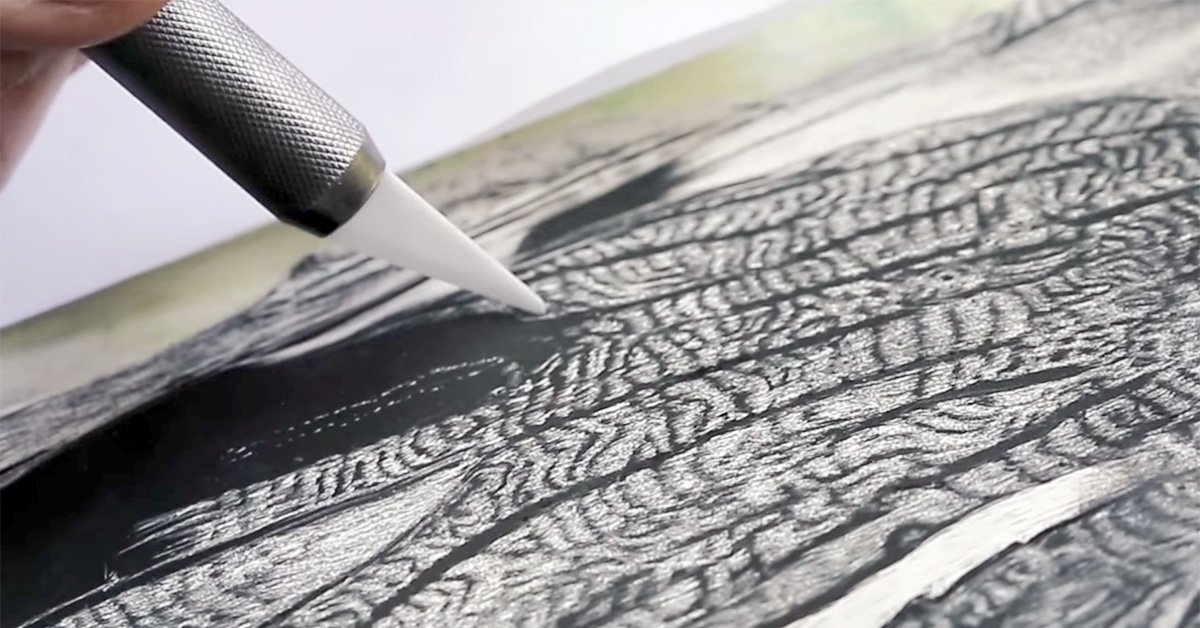 A Scratchboard Knife Creates Stunning, One-of-a-Kind Art